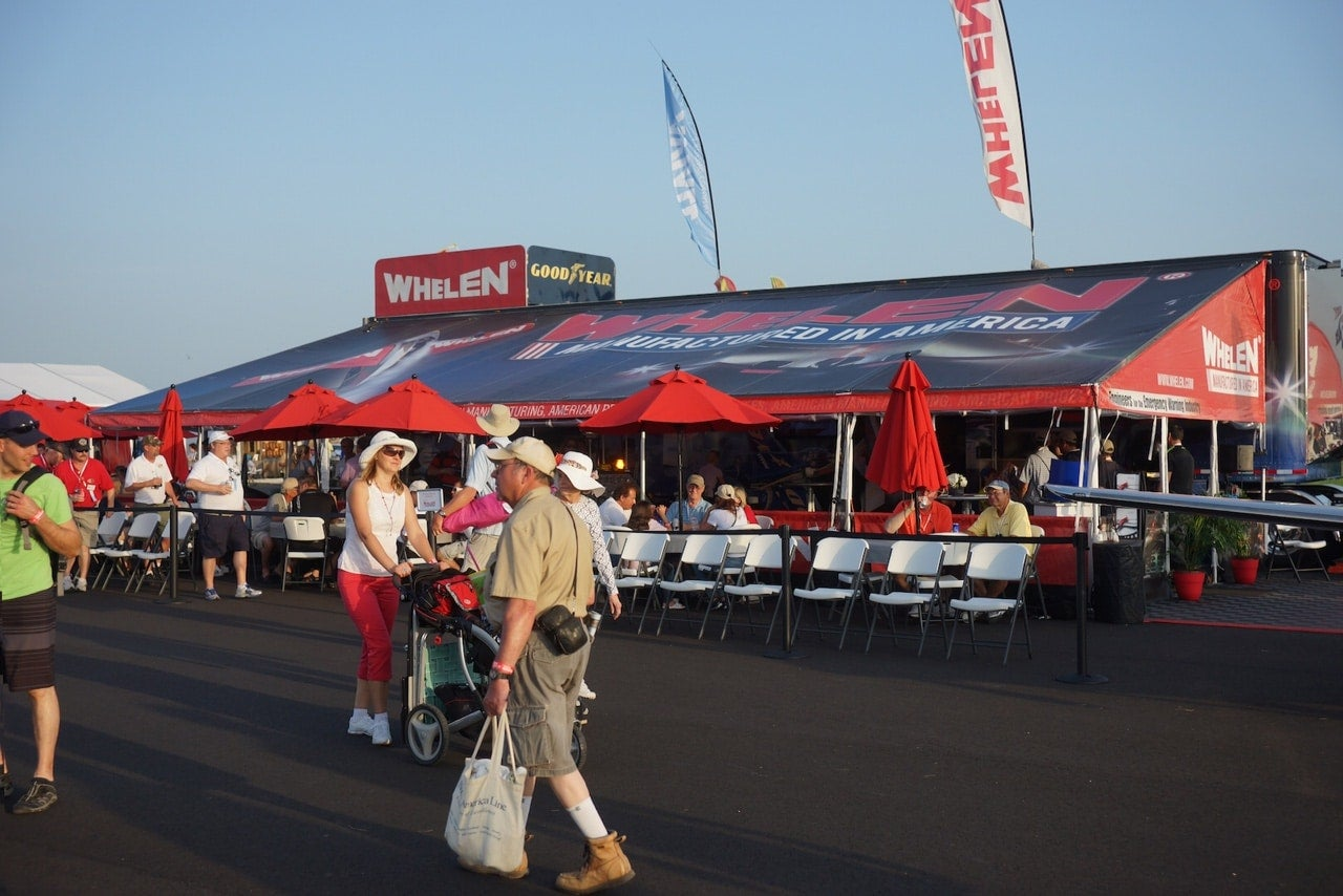 Whelen booth #488 during AirVenture 2014