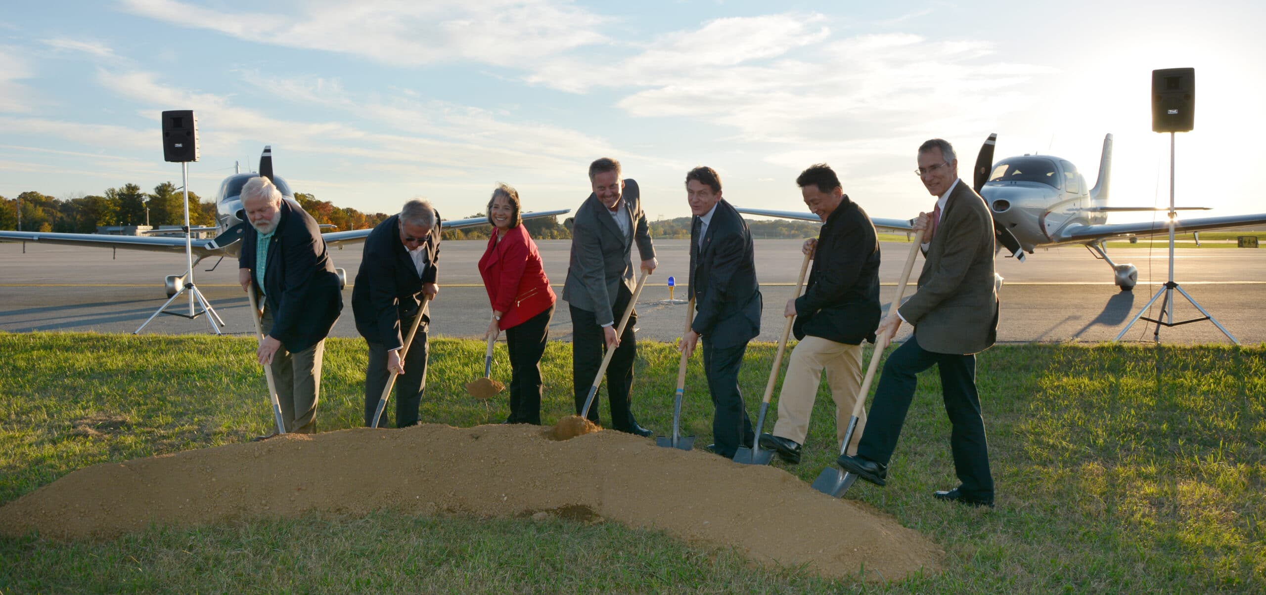 Groundbreaking for Future Home of the Cirrus Aircraft Vision Center